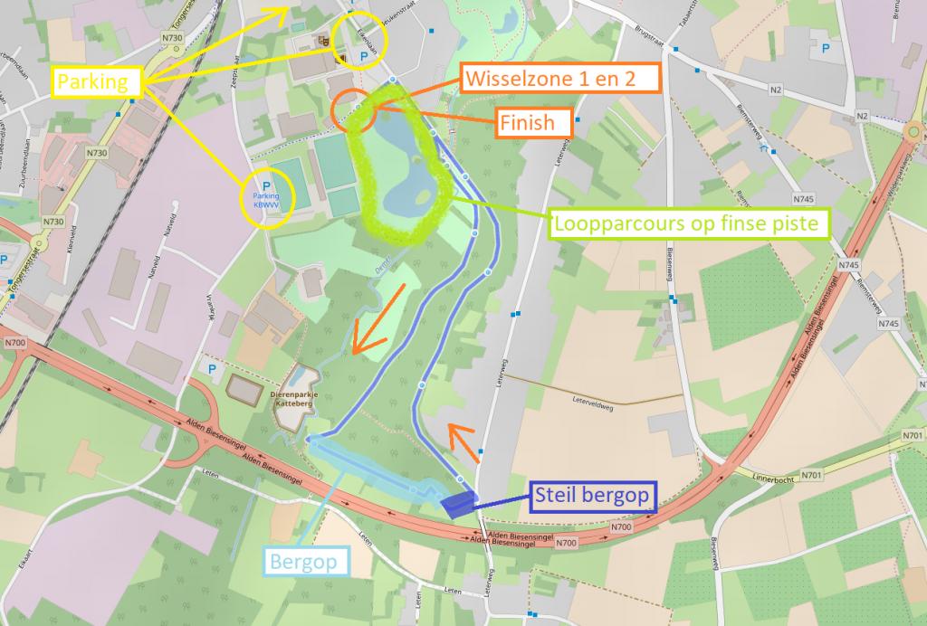 Parcoursen Ironkid Bilzen 2018